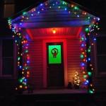 Gekleurde kerstverlichting voor buiten