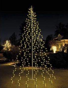 vlaggenmast verlichting voor de kerst