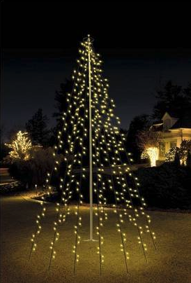 Vlaggenmast verlichting 400 LED warm wit - Kerstxl.nl