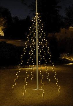 vlaggenmast verlichting 208cm 192 led warm wit