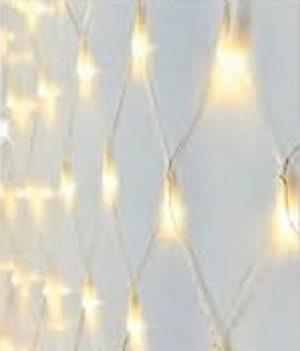 net kerstverlichting 3meter warm licht 1