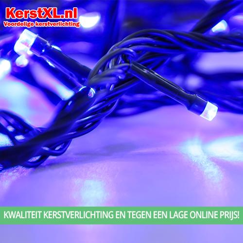 Blauwe waterdichte kerstverlichting batterij