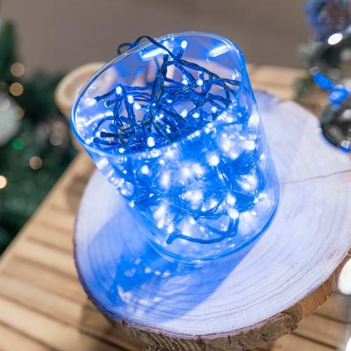 Kerstverlichting blauw batterij