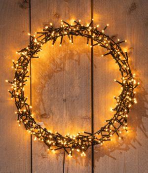 Kleine kerstkrans verlichting