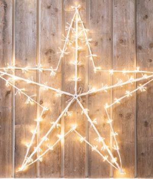 Ster kerstverlichting lampjes warm wit
