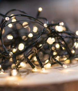 Warm witte kerstlampjes batterij 1